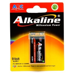 ABC Battery Alkaline 9 Volt