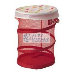 IKEA KUSINER MESH BASKET WITH LID RED