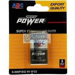 ABC Battery 9 VOLT SUPER POWER NEW