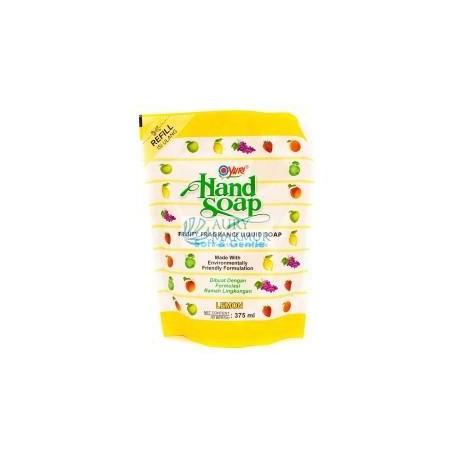 YURI Handwash Soap Pouch LEMON 375 ml