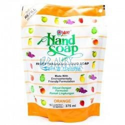 YURI Handwash Soap Pouch ORANGE 375ml